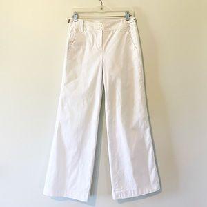 LOFT White Wide Leg Pants